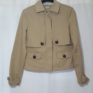SITWELL Anthropologie Half Trench Coat Jacket 8